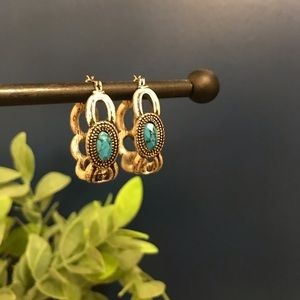 Lia Sophia Turquoise Hoop Earrings
